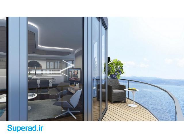آپارتمان در استانبول با منظره دریا